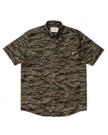 Carhartt Camisa Camo Tiger S/S Hombre