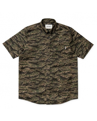 Carhartt Shirt Camo Tiger S/S Men
