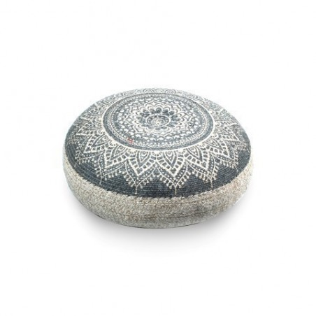 Deco Puf Gris Yute Mandala