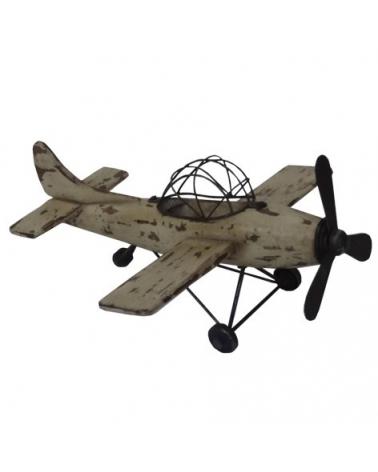 Deco Avión de Madera Wash