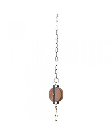 Deco Polea con cadena antigua 10,5xH5xH85cm