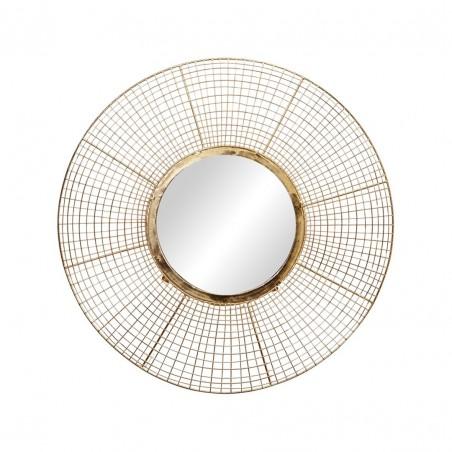 Deco Espejo Dorado 50 cm diametro