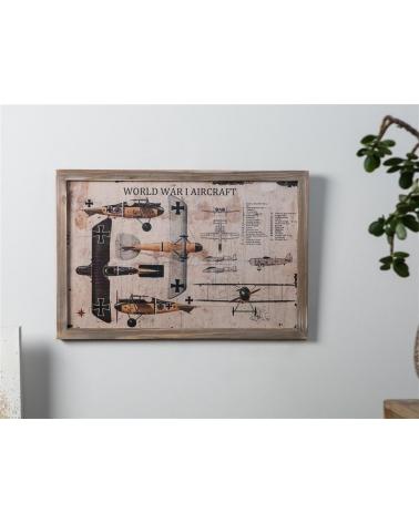 "DecoCuadro Aviones ""World War"" 60x40cm"
