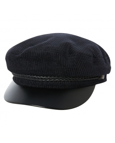 Brixton Fiddler Cap Black/Leather