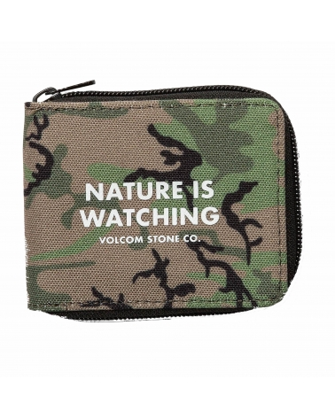 Volcom FULL ZIP WALLET CAMOUFLAGE