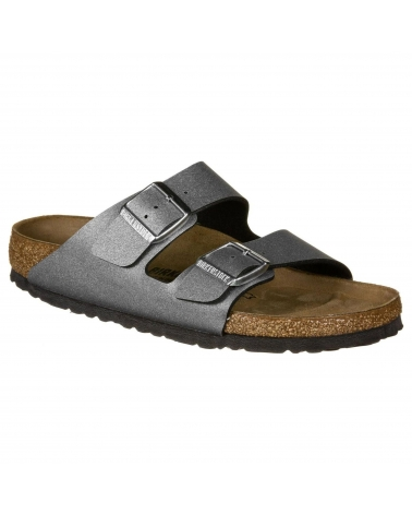 Birkenstock Arizona Bf Icy Metallic Anthracite Narrow Fit