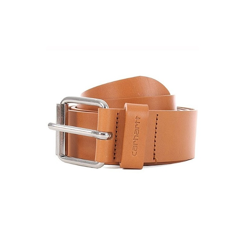 Carhartt Cinturón Script Belt Cow Leather Buckskin/Silver