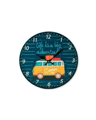 Hippie wall clock