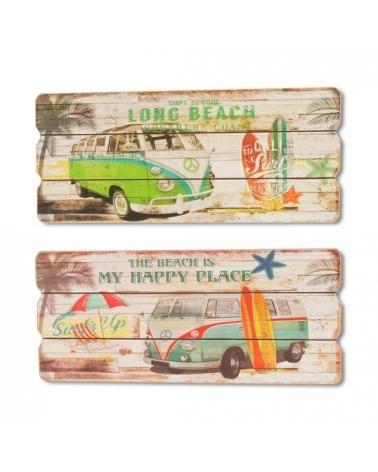 Placa de madera para pared Beach