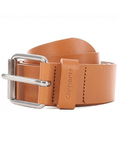Carhartt Cinturón Script Belt Cow Leather Buckskin/Silver